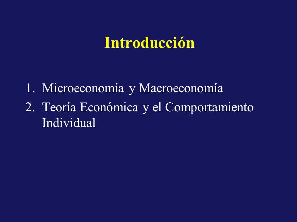 Introducción Microeconomía y Macroeconomía