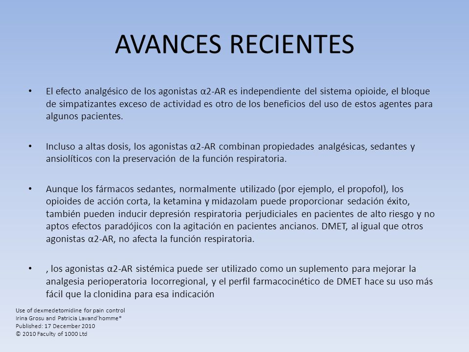 AVANCES RECIENTES
