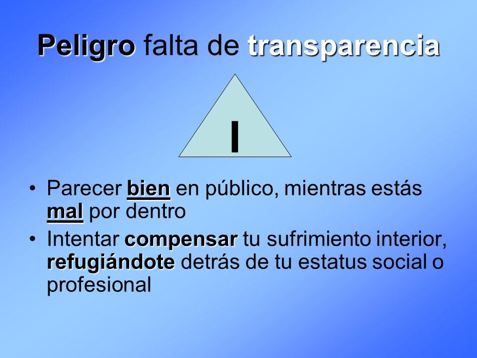 Peligro falta de transparencia