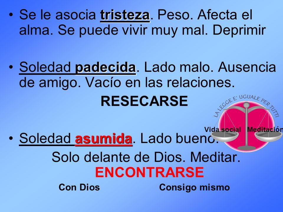 Solo delante de Dios. Meditar. ENCONTRARSE