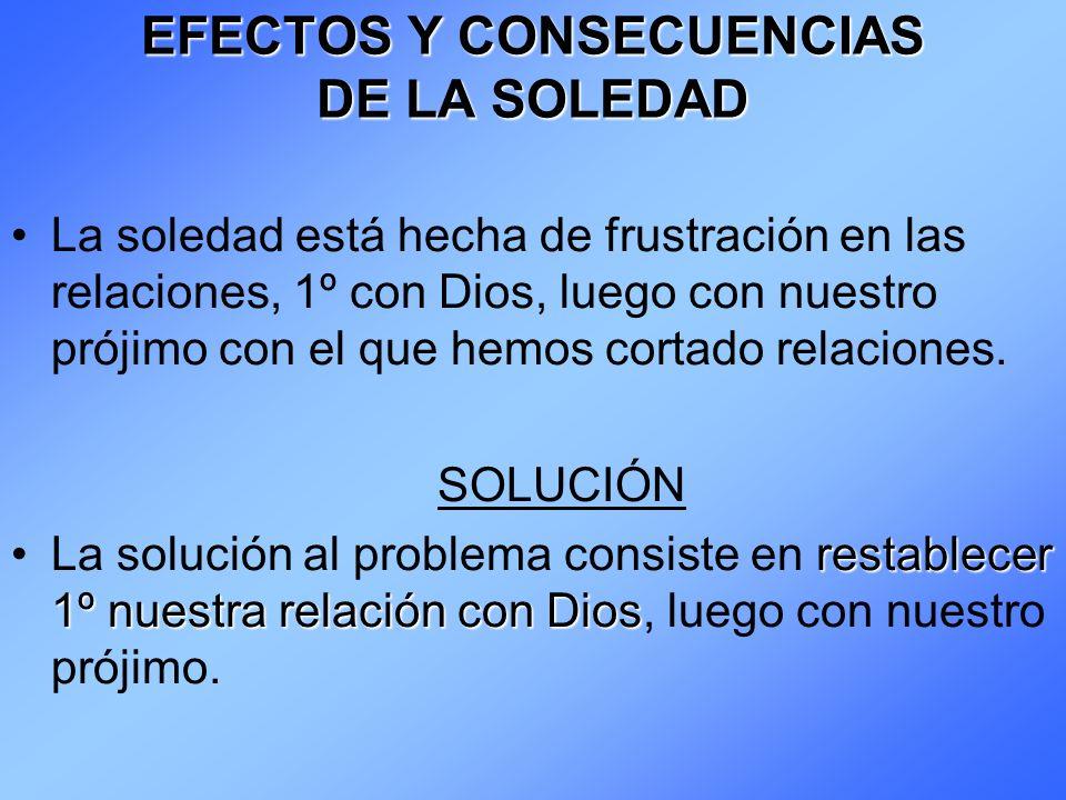EFECTOS Y CONSECUENCIAS DE LA SOLEDAD