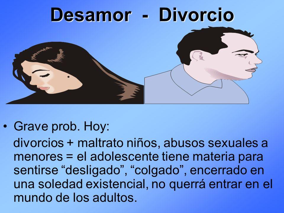 Desamor - Divorcio Grave prob. Hoy: