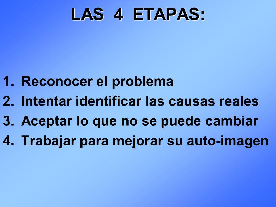 LAS 4 ETAPAS: Reconocer el problema