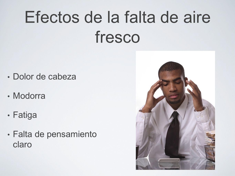 Efectos de la falta de aire fresco