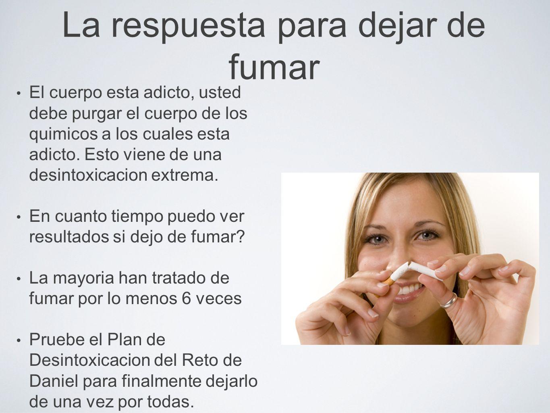 La respuesta para dejar de fumar