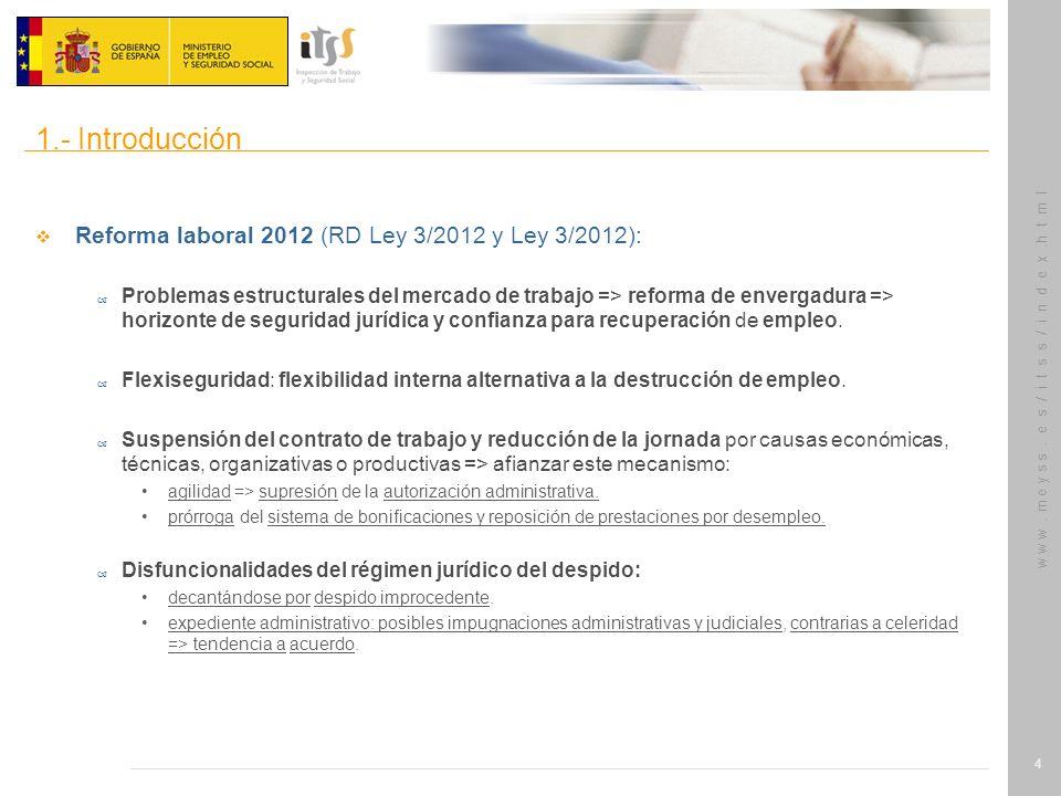 1.- Introducción Reforma laboral 2012 (RD Ley 3/2012 y Ley 3/2012):