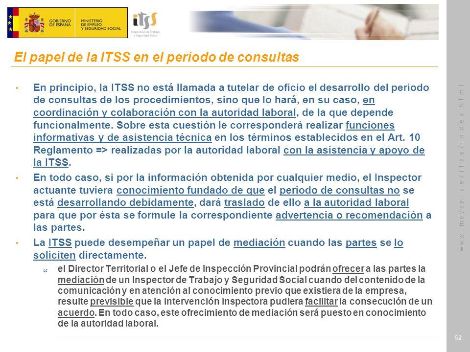 El papel de la ITSS en el periodo de consultas
