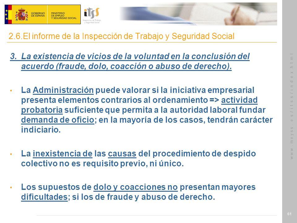 2.6.El informe de la Inspección de Trabajo y Seguridad Social
