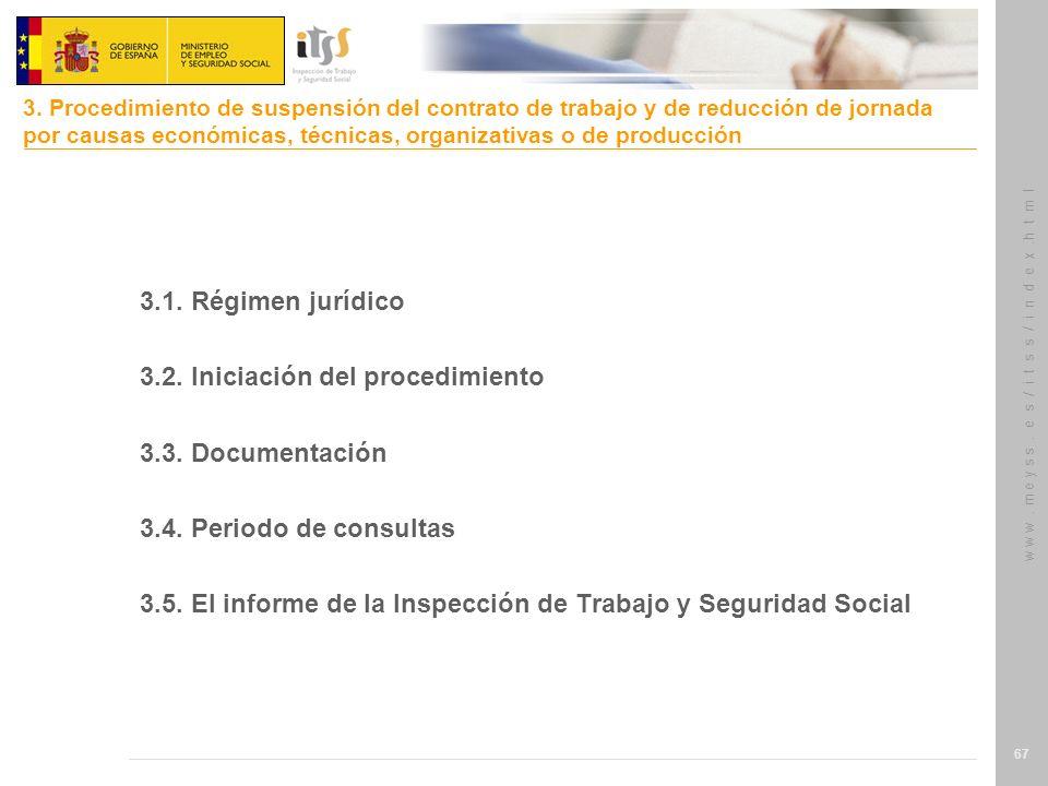 3.2. Iniciación del procedimiento 3.3. Documentación