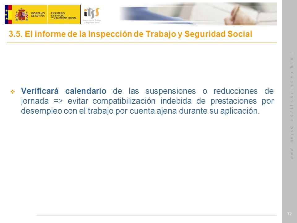 3.5. El informe de la Inspección de Trabajo y Seguridad Social