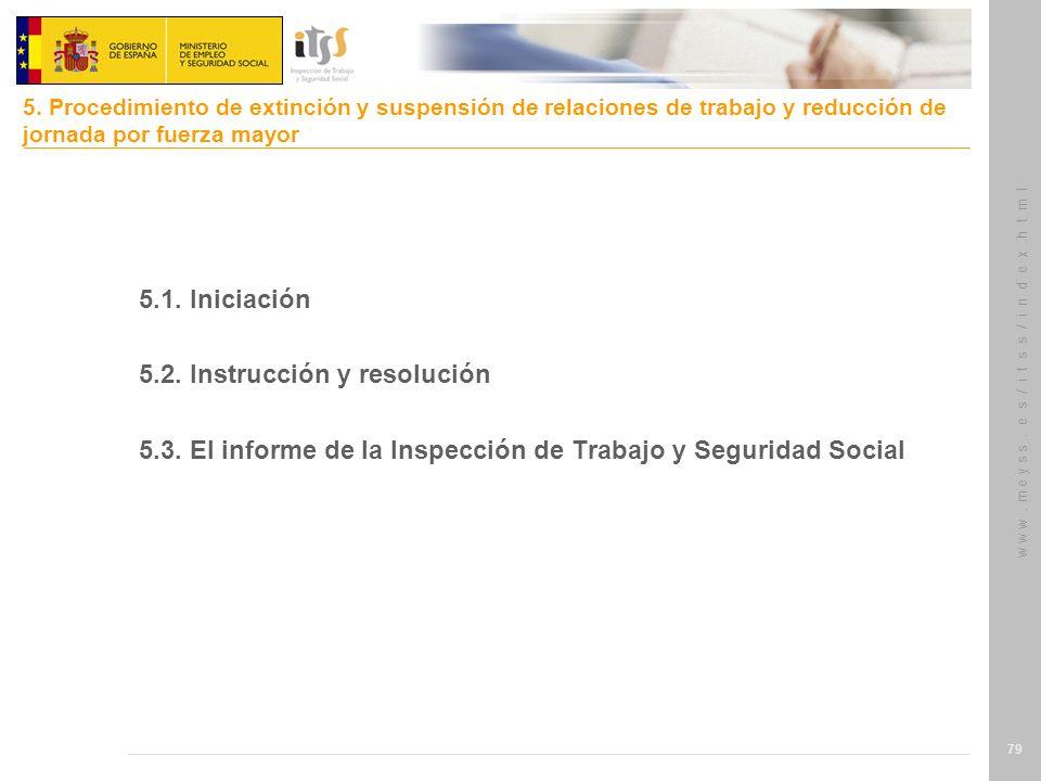 5.2. Instrucción y resolución