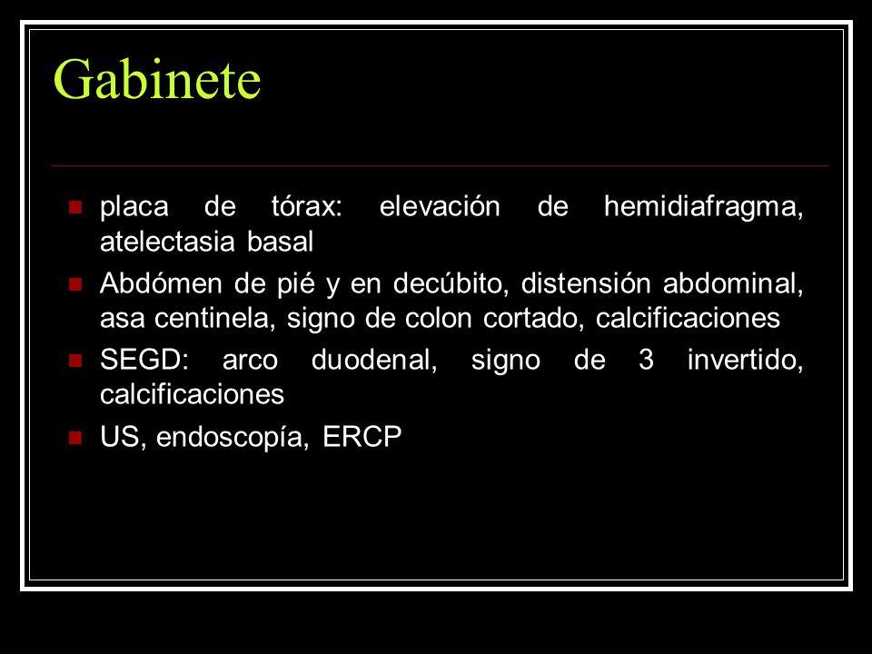 Gabinete placa de tórax: elevación de hemidiafragma, atelectasia basal