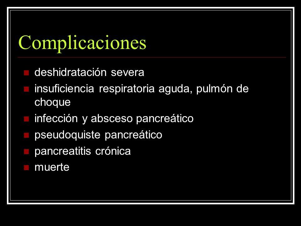 Complicaciones deshidratación severa