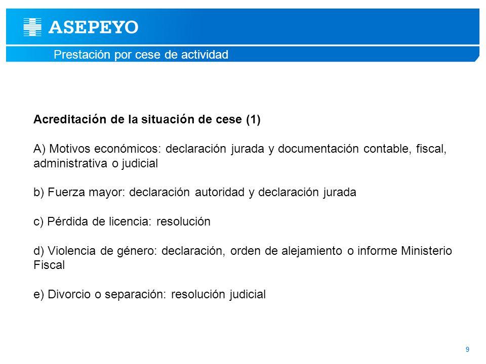 Acreditación de la situación de cese (1)