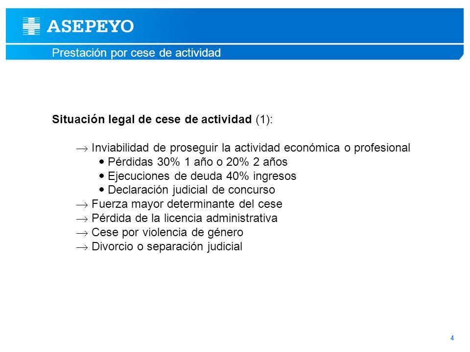 Situación legal de cese de actividad (1):