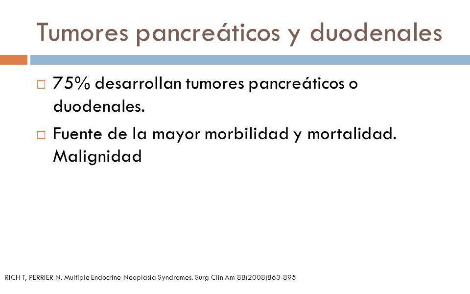 Tumores pancreáticos y duodenales