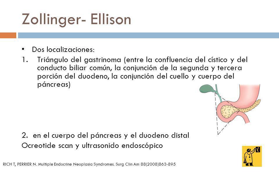 Zollinger- Ellison Dos localizaciones: