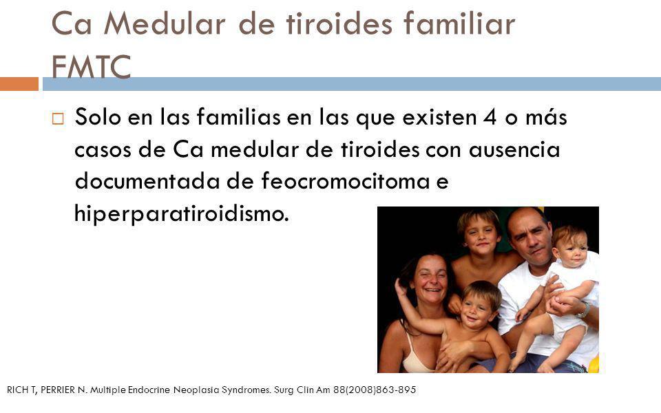 Ca Medular de tiroides familiar FMTC