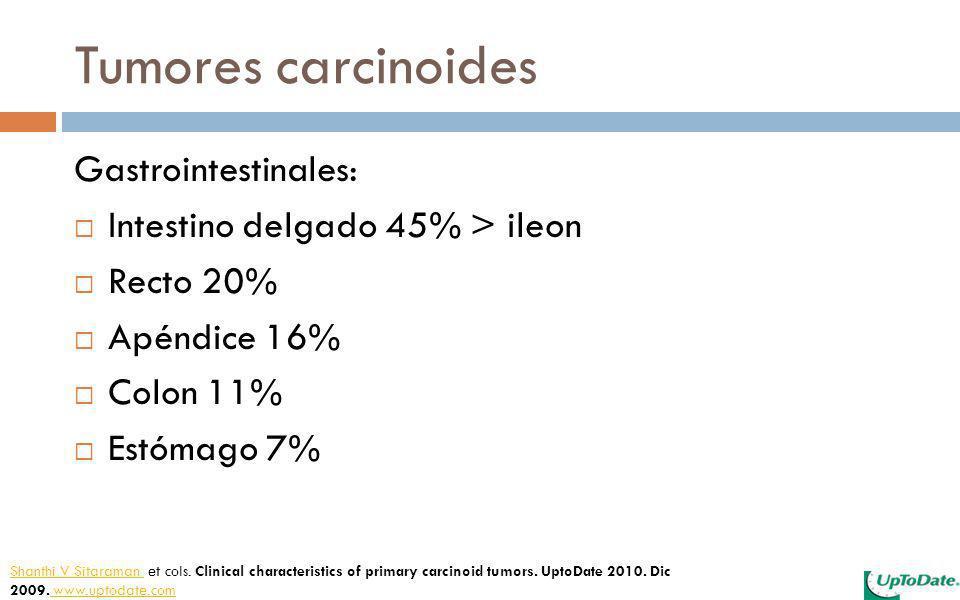 Tumores carcinoides Gastrointestinales: