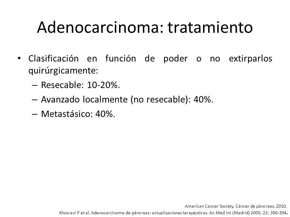 Adenocarcinoma: tratamiento