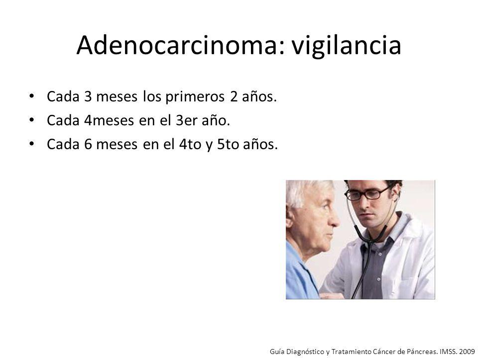 Adenocarcinoma: vigilancia