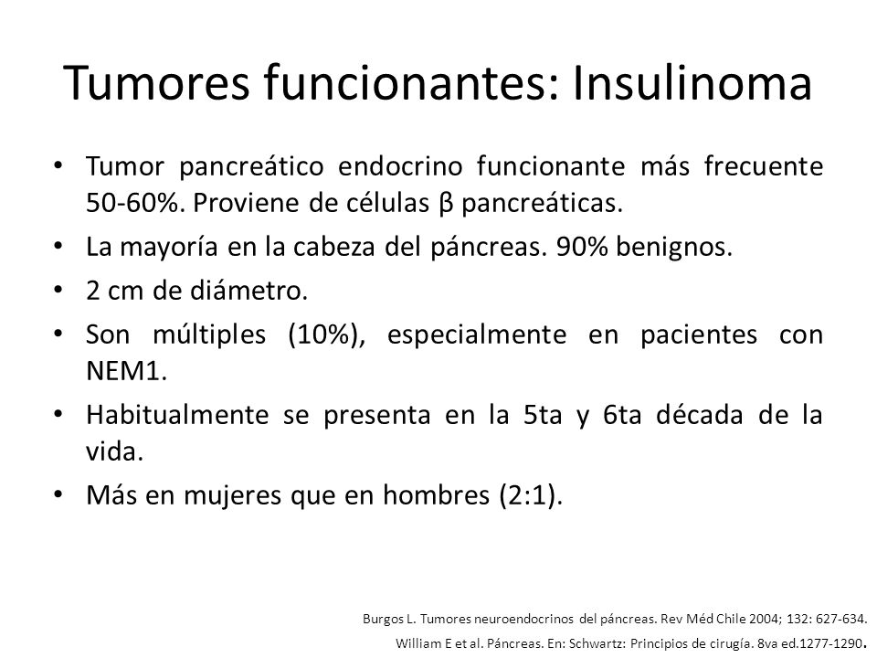 Tumores funcionantes: Insulinoma