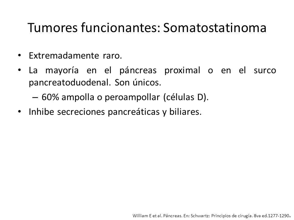 Tumores funcionantes: Somatostatinoma