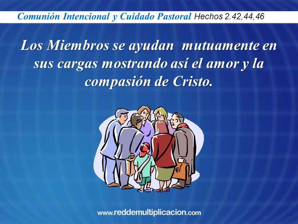 Comunión Intencional y Cuidado Pastoral Hechos 2.42,44,46