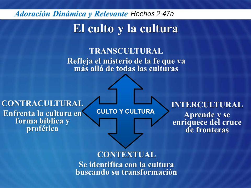 El culto y la cultura Adoración Dinámica y Relevante Hechos 2.47a