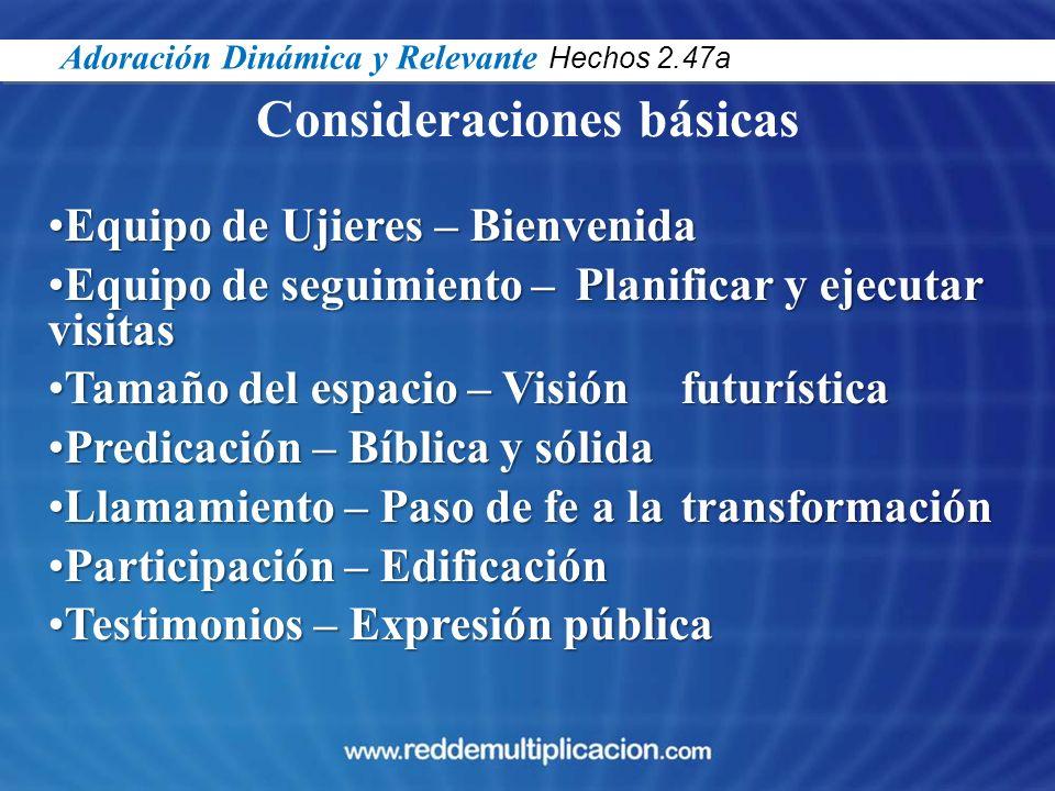 Consideraciones básicas