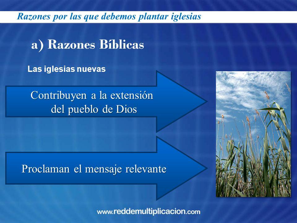 a) Razones Bíblicas Contribuyen a la extensión del pueblo de Dios