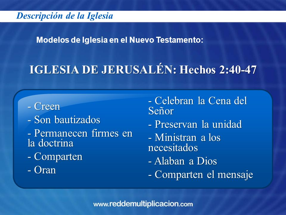 IGLESIA DE JERUSALÉN: Hechos 2:40-47