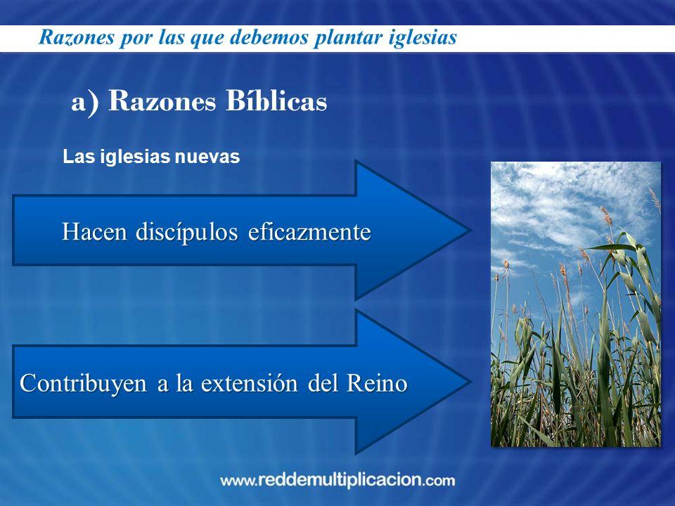 a) Razones Bíblicas Hacen discípulos eficazmente