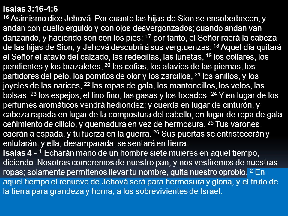 Isaías 3:16-4:6
