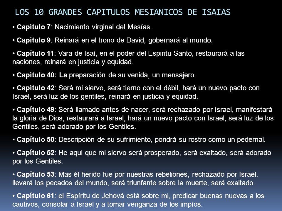 LOS 10 GRANDES CAPITULOS MESIANICOS DE ISAIAS