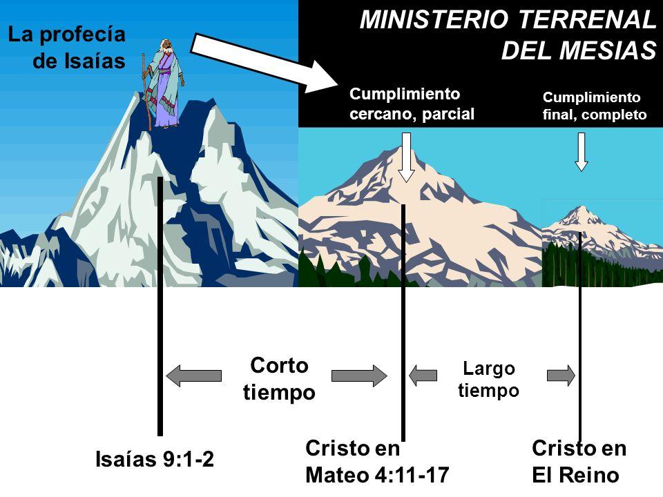 MINISTERIO TERRENAL DEL MESIAS