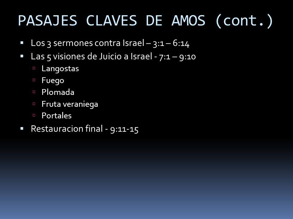 PASAJES CLAVES DE AMOS (cont.)