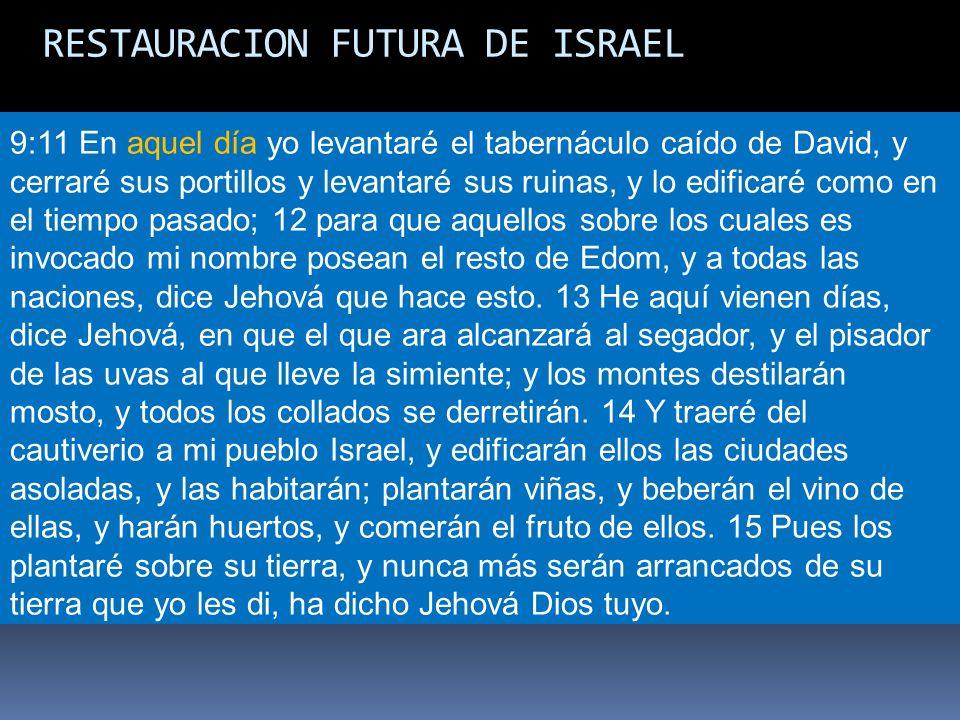 RESTAURACION FUTURA DE ISRAEL