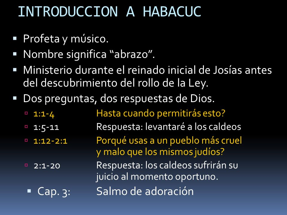 INTRODUCCION A HABACUC