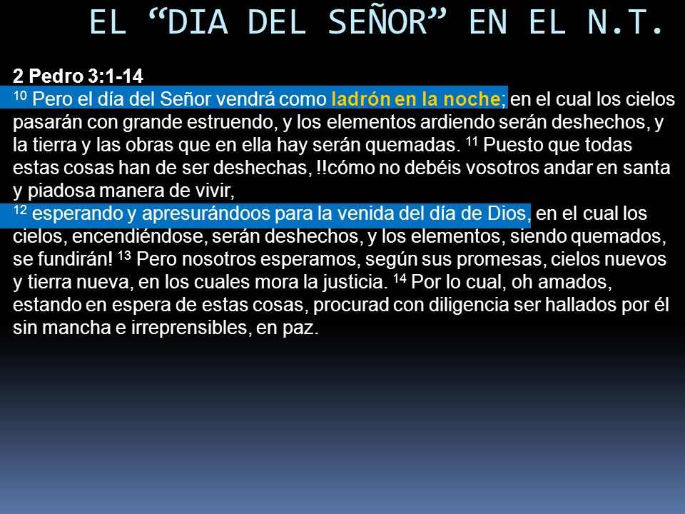 EL DIA DEL SEÑOR EN EL N.T.