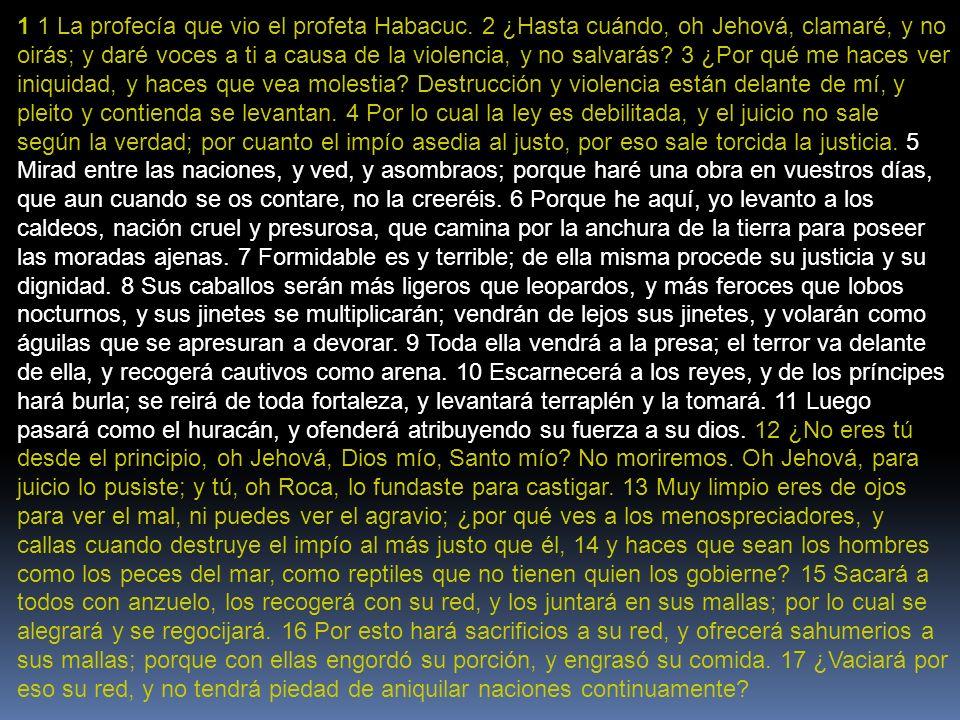 1 1 La profecía que vio el profeta Habacuc