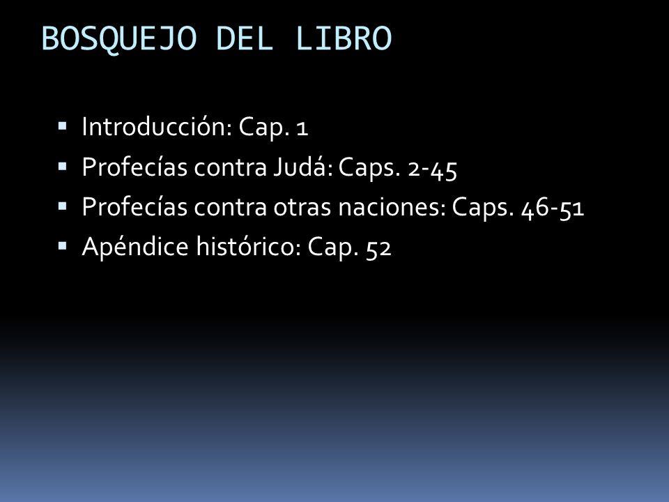 BOSQUEJO DEL LIBRO Introducción: Cap. 1