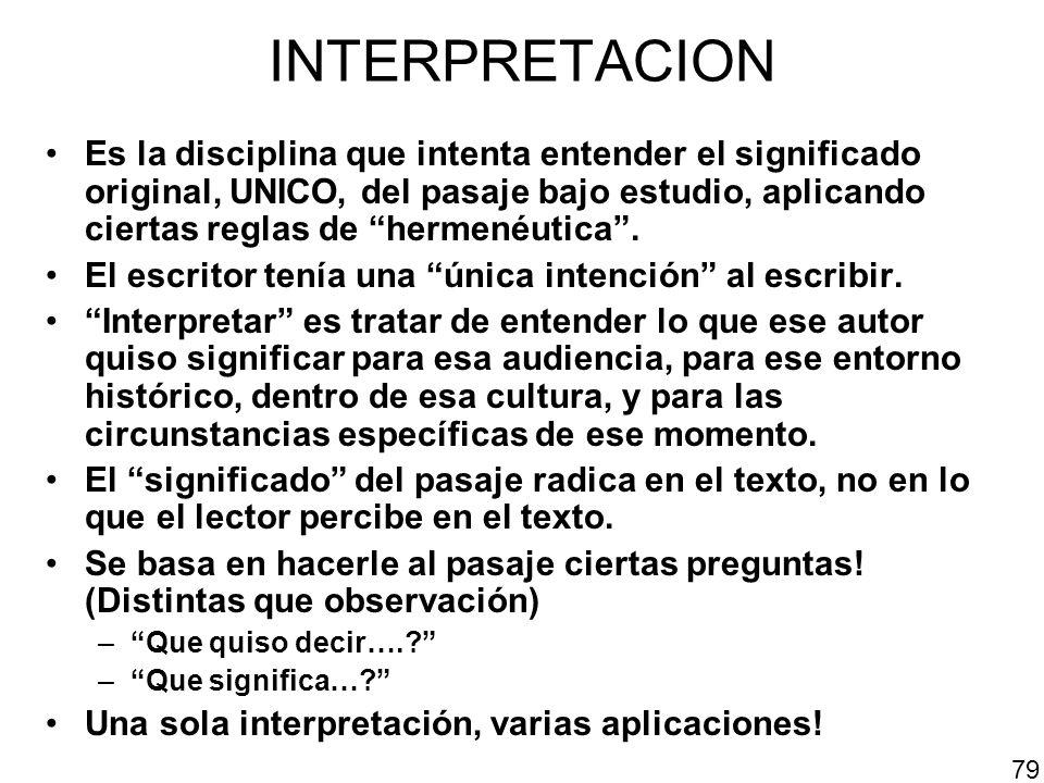 INTERPRETACION