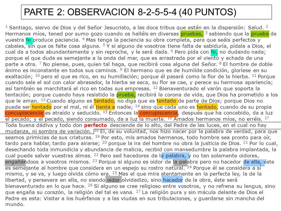 PARTE 2: OBSERVACION 8-2-5-5-4 (40 PUNTOS)