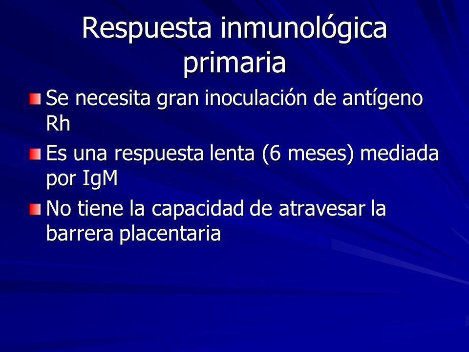 Respuesta inmunológica primaria