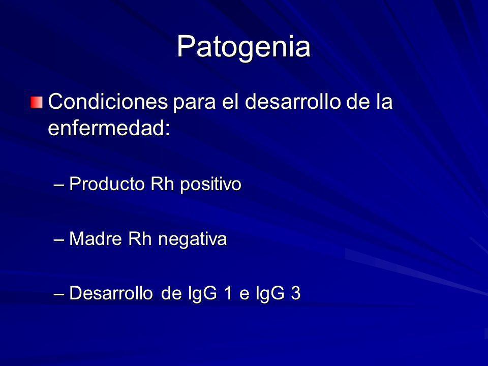 Patogenia Condiciones para el desarrollo de la enfermedad: