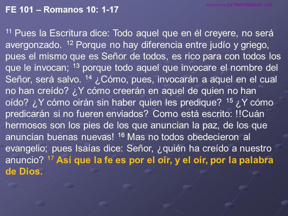 FE 101 – Romanos 10: 1-17