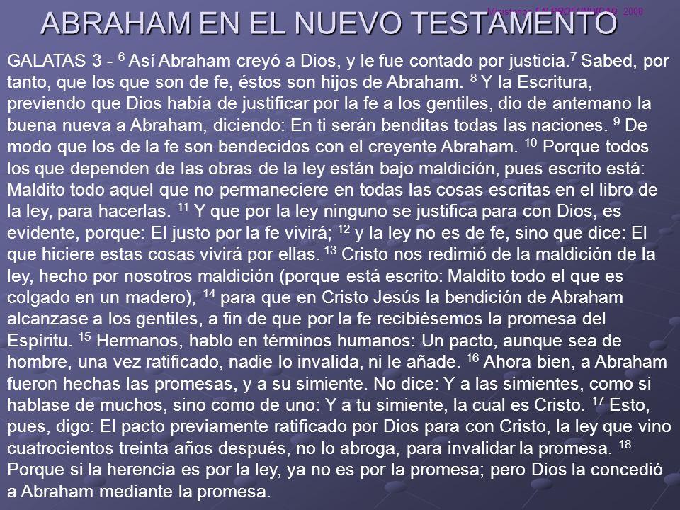 ABRAHAM EN EL NUEVO TESTAMENTO
