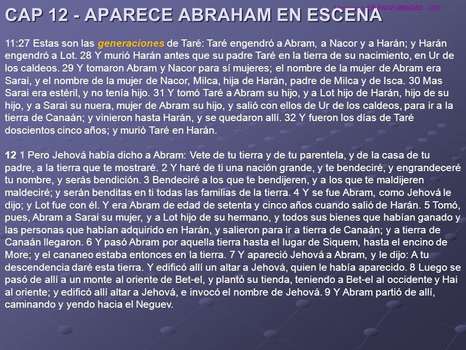 CAP 12 - APARECE ABRAHAM EN ESCENA