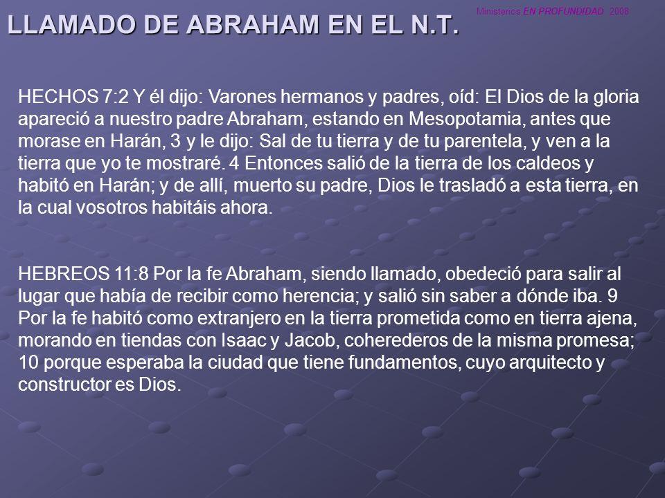LLAMADO DE ABRAHAM EN EL N.T.
